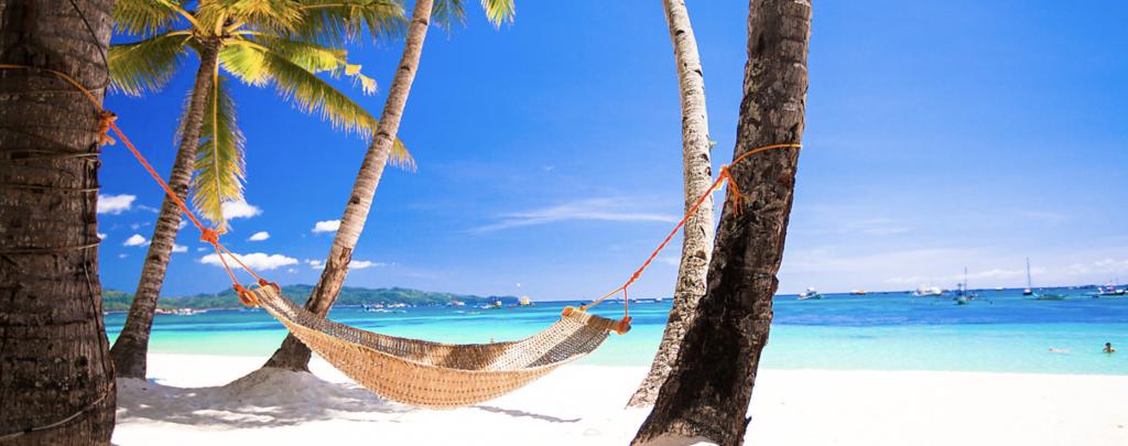 Take a hammock on Cap Cana beach, Punta Cana