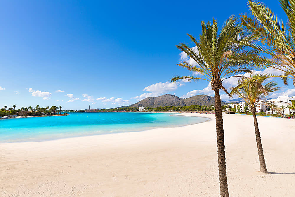 The October weather in Majorca means the sun will still be shining on Majorca's gorgeous Alcudia Beach.